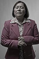 Berenice García, candidata a la presidencia municipal de la capital del estado por el partido Movimiento Ciudadano.