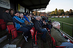 Alvechurch FC 3 Highgate United 0, 26/12/2016. Lye Meadow, Midland Football League Premier Division. Spectators in the main stand watching the first-half action at Lye Meadow as Alvechurch (in amber) hosted Highgate United in a Midland Football League premier division match. Originally founded in 1929 and reformed in 1996 after going bust, the club has plans to move from their current historic ground to a new purpose-built stadium in time for the 2017-18 season. Alvechurch won this particular match by 3-0, watched by 178 spectators, taking them back to the top of the league. Photo by Colin McPherson.