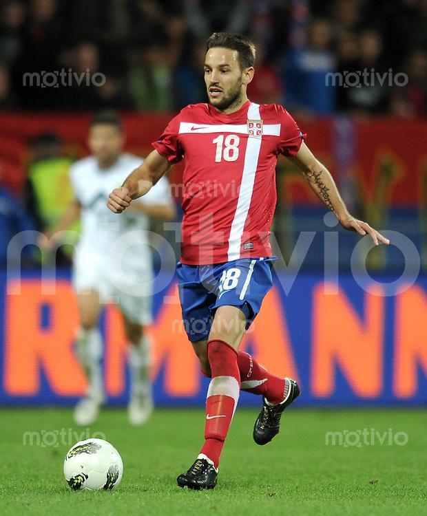FUSSBALL INTERNATIONAL  Qualifikation Euro 2012  11.10.2011 Slowenien - Serbien Milos NINKOVIC (Serbien)