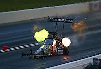 May 20, 2016; Topeka, KS, USA; NHRA top fuel driver Terry McMillen during qualifying for the Kansas Nationals at Heartland Park Topeka. Mandatory Credit: Mark J. Rebilas-USA TODAY Sports