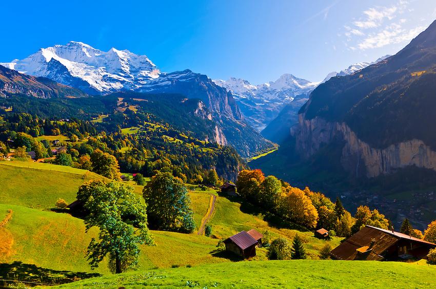 Wengen, Swiss Alps, Canton Bern, Switzerland | Blaine ...