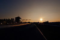 4 August, 2011; Lexington, OH, USA; The sun sets on the finish straight at the Mid-Ohio Sports Car Challenge, American Le Mans Series RD5;  Mandatory Credit: Scott LePage-MotorRacingPhoto    &copy; 2011 Scott LePage  http://MotorRacingPhoto.com