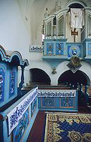 Inside of a Saxon Unesco World Heritage Church at Dariju ( Szekelyderz ) Transylvania, Romania