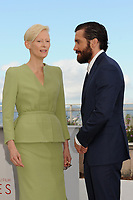 Tilda Swinton and Jake Gyllenhaal at the Photocall &acute;OKJA` - 70th Cannes Film Festival on May 19, 2017 in Cannes, France.<br /> CAP/LAF<br /> &copy;Lafitte/Capital Pictures /MediaPunch ***NORTH AND SOUTH AMERICAS, CANADA and MEXICO ONLY***