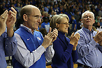 UK President Eli Capilouto and his wife cheering on the sidelines during the second half of the women's basketball game vs. Tennessee at Memorial Coliseum on Sunday, March 3, 2013, in Lexington, Ky. Photo by Kalyn Bradford | Staff