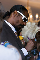 Rapper Snoop Dogg enjoying festivities at the 2008 Melbourne Cup.