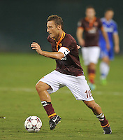 Francesco Totti (10) of AS Roma.  Chelsea FC defeated AS Roma 2-1, during an international friendly , at RFK Stadium, Saturday August 10 , 2013.