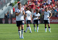 02 June 2013: The U.S Women's National Soccer Team takes a break during an International Friendly soccer match between the U.S. Women's National Soccer Team and the Canadian Women's National Soccer Team at BMO Field in Toronto, Ontario.<br /> The U.S. Women's National Team Won 3-0.