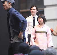 NEW YORK, NY-July 17: Paul Dano, Seo-Hyeon Ahn shooting on location for Netflix & Plan B Enterainment  film Okja in New York. NY July 17, 2016. Credit:RW/MediaPunch