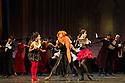 Edinburgh, UK. 29.08.2012. Mariinsky Ballet presents CINDERELLA as part of the Edinburgh International Festival. Picture shows: Tatiana Bazhitova (Kubishka -stepsister), Ekaterina Kondaurova (Stepmother) and  Margarita Frolova (Khudishka - stepsister). Photo credit: Jane Hobson.