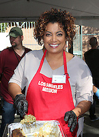 Los Angeles, CA - NOVEMBER 23: Michaela Pereira, At Los Angeles Mission Thanksgiving Meal For The Homeless At Los Angeles Mission, California on November 23, 2016. Credit: Faye Sadou/MediaPunch