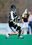 3 April 2010: Binghamton University Bearcats' Midfielder Drew Wichmann, a Senior from Syracuse, NY, in action against the University of Vermont Catamounts at Moulton Winder Field in Burlington, Vermont. The Catamounts defeated the visiting Bearcats 11-8 in Vermont's opening home game of the 2010 season. Mandatory Credit: Ed Wolfstein Photo