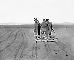 Jerome ID:  Brady Stewart plowing the fields on the 160 acre homestead - 1909.  Brady Stewart and three friends went to Idaho on a lark from 1909 thru early 1912. As part of the Mondell Homestead Act, they received a land grant of 160 acres north of the Snake River.  For 2 ½  years, Brady Stewart photographed the adventures of farming along with the spectacular landscapes.