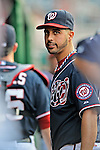 16 May 2012: Washington Nationals pitcher Gio Gonzalez stands in the dugout prior to a game against the Pittsburgh Pirates at Nationals Park in Washington, DC. The Nationals defeated the Pirates 7-4 in the first game of their 2-game series. Mandatory Credit: Ed Wolfstein Photo