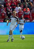 17 September 2011: Colorado Rapids midfielder Jeff Larentowicz #4 in action during an MLS game between the Colorado Rapids and the Toronto FC at BMO Field in Toronto, Ontario Canada..Toronto FC won 2-1.
