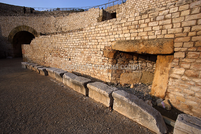 Roman Amphitheatre ; Second century AD ; Remodelled by Heliogabalus at the beginning of III century AD ; In 259 AD it witnessed the first local Christians martyrs? executions, Tarragona (Tarraco, Hispania Citerior), Catalonia, Spain