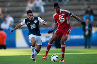 DANIEL CUEVAS Y ADRIAN DIZ PE PUEBLA -Mexico, March 1, 2013: The U.S. Under-20 Men's National Team advanced to the title match of the 2013 CONCACAF U-20 Championship with a 2-0 victory against Cuba at Estadio Cuauhtémoc. Mario Rodriguez and Daniel Cuevas scored three minutes apart and Cody Cropper recorded his second shutout of the tournament in putting the U.S. through to the final.