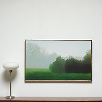 "Preston: Morning Fog, Digital Print, Image Dims. 26"" x 42"", Framed Dims. 27"" x 43"""