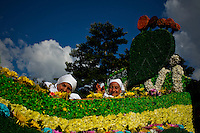 """People attend the traditional """"Silletero"""" parade during the Flower Festival in Medellin August 7, 2012. Photo by Eduardo Munoz Alvarez / VIEW."""