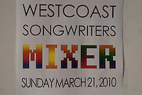 West Coast Songwriters Spring Fling Mixer at The Union Room - March 21, 2010