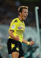 Fussball Bundesliga Saison 2011/2012 1. Spieltag Borussia Dortmund - Hamburger SV V.l.: Mario GOETZE (BVB) jubelt nach seinem Tor zum 2:0.