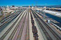 Fourth Street, Concrete Span, Bridge, Railroad Yard, Tracks, Electric, Transmission, Towers, Los Angeles, River