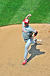 30 May 2011: Philadelphia Phillies starting pitcher Roy Halladay on the mound against the Washington Nationals at Nationals Park in Washington, District of Columbia. The Phillies defeated the Nationals 5-4 to take the first game of their 3-game series. With the victory, Halladay notched his 7th win of the season. Mandatory Credit: Ed Wolfstein Photo