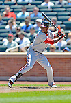 25 July 2012: Washington Nationals outfielder Roger Bernadina in action against the New York Mets at Citi Field in Flushing, NY. The Nationals defeated the Mets 5-2 to sweep their 3-game series. Mandatory Credit: Ed Wolfstein Photo