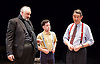 Orson&rsquo;s Shadow by Austin Pendleton<br /> at Southwark Playhouse, London, Great Britain <br /> press photocall <br /> 1st July 2015 <br /> <br /> <br /> John Hodgkinson as Orson Welles<br /> Ciaran O&rsquo;Brien as Sean<br /> Adrian Lukis as Laurence Olivier<br /> <br /> <br /> Photograph by Elliott Franks <br /> Image licensed to Elliott Franks Photography Services