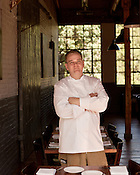 October 10, 2012. Pittsboro, North Carolina..  Brendan Cox is the head chef of Oakleaf and owns the restaurant with his wife Leslie.