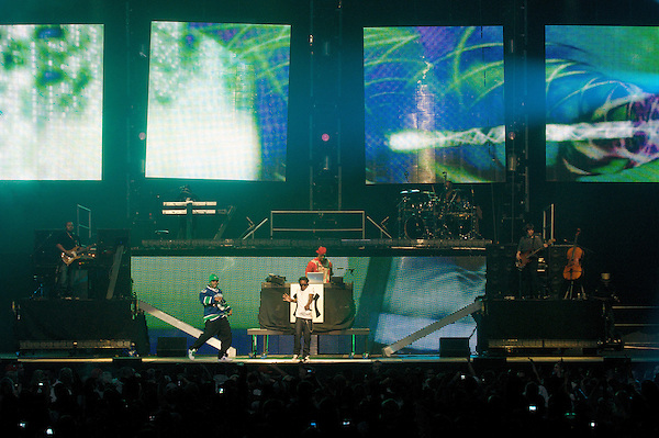 Lil Wayne, also known as 'Weezy&quot; Performs Saturday, Jan 24th, 2009 on his &quot;I am Music&quot; tour at GM Place in Vancouver. (Scott Alexander/pressphotointl.com