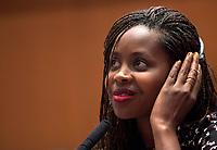 L'attivista per i diritti umani e storyteller Clementine Wamariya, sopravvissuta al genocidio del Ruanda, durante un incontro all'Universita' LUMSA, Roma, 4 maggio 2017.<br /> Survivor of Rwandan genocide, human rights activist and storyteller Clementine Wamariya attends a meeting at the LUMSA University, Rome, 4 May 2017.<br /> UPDATE IMAGES PRESS/Riccardo De Luca L'attivista per i diritti umani e storyteller Clemantine Wamariya, sopravvissuta al genocidio del Ruanda, durante un incontro all'Universita' LUMSA, Roma, 4 maggio 2017.<br /> Survivor of Rwandan genocide, human rights activist and storyteller Clemantine Wamariya attends a meeting at the LUMSA University, Rome, 4 May 2017.<br /> UPDATE IMAGES PRESS/Riccardo De Luca