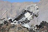 Remains of building destroyed by Aa lava flow fropm Fogo Volcano, Portela, Cape Verde