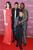 PALM SPRINGS, CA, USA - JANUARY 03: Asher Oyolewo, Caleb Oyelowo, David Oyelowo, Jessica Oyelowo arrive at the 26th Annual Palm Springs International Film Festival Awards Gala Presented By Cartier held at the Palm Springs Convention Center on January 3, 2015 in Palm Springs, California, United States. (Photo by David Acosta/Celebrity Monitor)