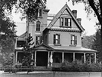 possibly the front of C. Chambers house at 69 Waterville Street in Waterbury as it looked during the early 1900s.