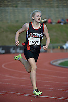 Ruby Hansen in action during the Athletics - NZ Track and Field Championships at Newtown Park, Newtown, New Zealand on Friday 6 March 2015. <br /> Photo by Masanori Udagawa. <br /> www.photowellington.photoshelter.com.