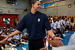 {June 27, 2012} {4:00pm} -- New York, NY, U.S.A.Duke basketball star Austin Rivers arriving at the Dunlevy Milbank Boys & Girls Club in Harlem before the NBA draft Thursday in Manhattan, New York on June 27, 2012. .