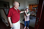 """Glenn """"Buddy"""" Westbrook shares a moment with his daughter, Leann, in their home in London, Ky., on Thursday, Oct. 25, 2012..Photo by Latara Appleby"""
