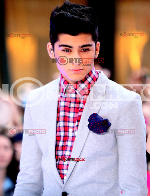 March 12, 2012 Zayn Malik,del grupo One Direction en serie de conciertos de Today Show en Nueva York City.<br />
