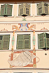 Painting on the facade of a building in the historical downtown Bolzano, Italy