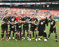 Starting eleven of D.C. United during an MLS match against Real Salt Lake at RFK Stadium, on June 5 2010 in Washington DC. The game ended in a 0-0 tie.