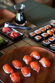 Salmon sushi platter, Sitlka, Alaska