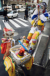 adult man dressed up in colorful clothing photographing the photographer Harajuku Tokyo Japan