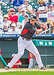 10 March 2015: Miami Marlins infielder Derek Dietrich in Spring Training action against the Washington Nationals at Roger Dean Stadium in Jupiter, Florida. The Marlins edged out the Nationals 2-1 on a walk-off solo home run in the 9th inning of Grapefruit League play. Mandatory Credit: Ed Wolfstein Photo *** RAW (NEF) Image File Available ***