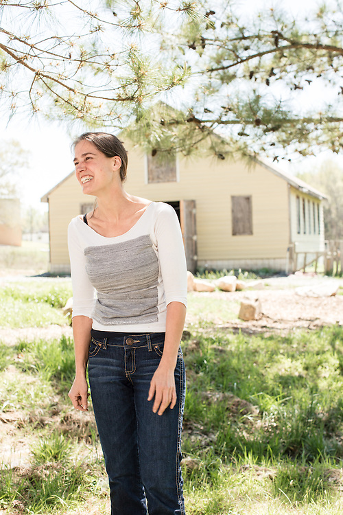 Durham, North Carolina - Wednesday March 30, 2016 - Katherine Gill is the project manager for the Durham Public Schools' HUB Farm. The HUB works to teach all aspects of local food growing to students in the DPS system.