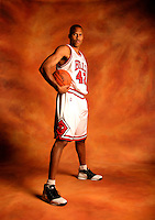 DEERFIELD, IL - OCTOBER 02: PJ Brown #42 of the Chicago Bulls pose for a portrait during the Bulls media day October 2, 2006 at the Berto Center in Deerfield, Illinois..Photo by Chris Covatta..
