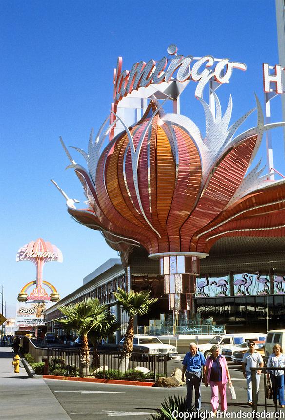 Las Vegas: Flamingo Hilton Entrance. Photo '79.