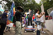 Obama makes an appearance at the 24th Annual Pride Parade in Durham, Sept. 27, 2008.