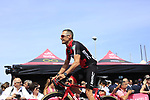 Manuel Quinziato (ITA) BMC Racing Team at sign on before Stage 1 of the 100th edition of the Giro d'Italia 2017, running 206km from Alghero to Olbia, Sardinia, Italy. 4th May 2017.<br /> Picture: Ann Clarke | Cyclefile<br /> <br /> <br /> All photos usage must carry mandatory copyright credit (&copy; Cyclefile | Ann Clarke)