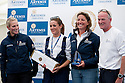 10th August 2011. Cowes. Isle of Wight..Showing Mark Tyndall, Zara Phillips, Natalie Pinkham and Dee Caffari at The Artemis Challenge prize giving ceremony after the round the Island race during Aberdeen Asset Management Cowes Week 2011...Credit: Lloyd Images.